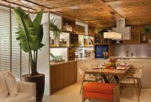 Forro de bambu para cobrir telhado em academia