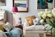 Lounge decor inspiration / Colours, shapes and textures I love!