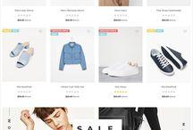 clothing webdesign