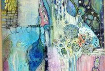 Mixed Media Inspiration / layers, colors, compositions, stories in mixed media