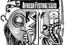 Previous Festival Featured Artwork (Posters) / Every year, the African Festival of the Arts hosted in Washington Park of Chicago just steps away from President Barack Obama's home every Labor Day Weekend features a piece of artwork yearly. The artwork is then made into a poster that many love to collect over the years and have them framed.
