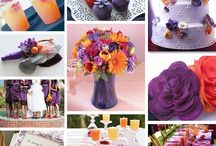 Purple and Orange Shower Ideas / by Kim Wells