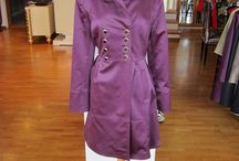 Lina Liri's Elegant High Fashion Purple Color Trench Coat Classic Style Which Embracing The Waist. / Lina Liri's Elegant High Fashion Purple Color Trench Coat Classic Style Which Embracing The Waist.
