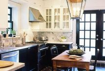 Kitchen: Old-World Glamour / One day we'll update our kitchen from from industrial/farmhouse to ... New York/romantic? Here are some ideas I love. / by Amy Suardi (Frugal Mama)