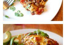pasta + casseroles + pies