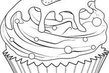 riscos de bordados cupcake