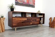 Mid Century Media Consoles / Media storage • sideboards • TV stands • consoles | Solid wood furniture pieces designed & built with 21 years of experience • traditional joinery with a modern aesthetic • mid century decor | shop @ jeremiahcollection.com