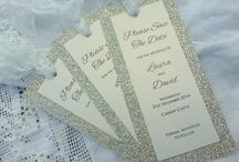 wedding stationery: bookmarks / handmade wedding stationery, bookmark style save the dates, menus, order of the day and more www.byjo.co.uk