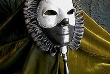 Robert LaMarche / Hand crafted artisan masks made of thermoplastic material.
