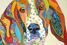 animales pop arte colores