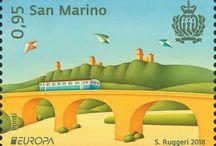 Cod. 658: Europa – Ponti / Compralo su/Buy it on: http://www.ufn.sm/it/cod-658-2018.html.  #SanMarino, #RSM #ponti #bridges #europa #europe #Posteurop #filatelia #Ruggeri #philately #philatelic #philatelist #philatelie #francobolli #francobollo #stamp #stamps
