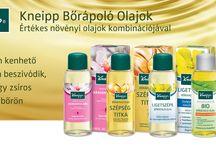 Bőrápoló olajok / Kneipp bőrápoló olajok a selymesen puha bőrért.