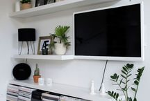 Tv kitchen shelves