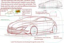 come disegnare un' auto in prospettiva