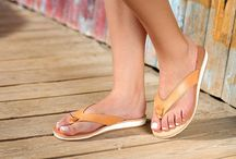 "Leather Handmade Sandals Flip Flops ""Spetses"" col. Natural / White Sole"