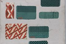 Pattern old swatch books / Gallery of real historic swatch books or their fragments.