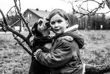 Zobacz jak potrafi kochać pies... / kilka obrazów przedstawiających przyjaźń między psem a człowiekiem...