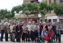 Visita de las Aulas Senior (Aulas de la Tercera Edad) de Mataró (Barcelona) / Con las Aulas Senior de Mataró visitamos la Iglesia de Santa María, el casco histórico medieval y la Iglesia de Santa María.
