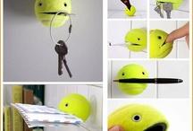 Riciclare palline da tennis / Riutilizzare vecchie palline da tennis. Ecco le idee più creative, utili e simpatiche.