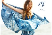 Indigo Collection / our hand dyed indigo collection in collaboration with photographer and textile designer dean isidro. oxidized in the salt air and left in the sun to dry, these voluminous halter dresses are everything we've ever dreamed of!