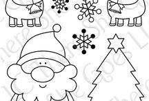 kerst krijttekkeningen