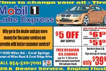 Mobil 1 Coupons in Coral Springs / Our mobile 1 lube express offers to free coupons in Coral Springs, Florida. Find out more on Local Oil Change Coupons info - 11590 Wiles Road, Coral Springs, FL 33076 and call me 954 510-7001