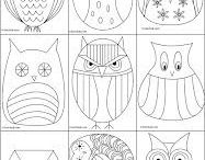Owls / kids art project ideas