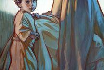 Religiosas virgen María y El Niño Dios