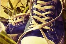 Converse sko og diverse sko.