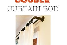 Pipe curtain rods