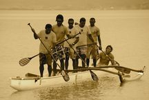 OC SUP Experiment / Looking for possible origins in combining standing and paddling. The paddlers are novices but did a great job. Leleuvia Fiji.