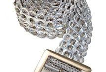Bælte af clips i sølv