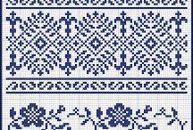 Kreuzstich blau