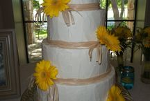 Wedding Cakes (spackle) / Various cakes with treebark, stucco, and spackle designs