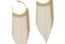 JewelMint Golden Fringe Earrings
