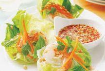 Vietnamese wraps and salads