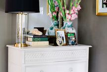 Vignette Styling / This board features styled coffee tables, console tables, end tables, and nightstands that feature beautiful, well decorated vignettes.