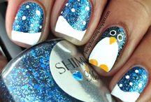 świąteczne nails