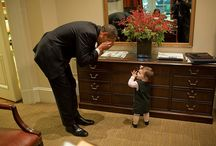 "Our Littlest Fans / ""One of the best perks about being president is almost anyone will hand you their baby."" - President Obama / by The Democrats"