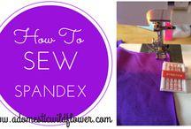 Sew spandex