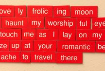 Magnetic Prose / A compilation of verses made with magnetic poetry words