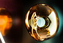 Tom Dixon Melt Lights / Obsessed with the idea of creating an imperfect, organic and naturalistic lighting object, Melt was created in collaboration with a Swedish design collective. Melt is evocative of molten glass, the interior of a melting glacier, or images of deep space.