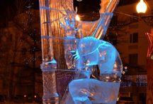 ijs skulpturen
