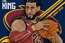 LeBron James The King Illustration.