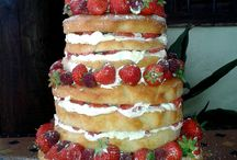 'Naked' Wedding Cakes / Naked wedding cakes perfect for summer vintage themed weddings