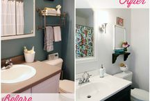 Bathrooms Before and After / by Beth Hunter