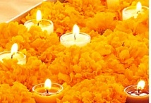 marigolds and candles