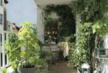 Patios, terrazas, balcones