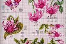 cross stitch fuchsia