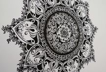 Fun with Zentangles / I love to draw in pen & ink and think this looks like an interesting practice.